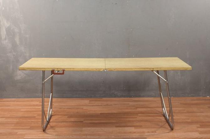Retro Large Aluminum Folding Table – ONLINE ONLY