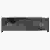 Chinese Distressed Semi Gloss Black Low TV Console Table Cabinet cs5130S
