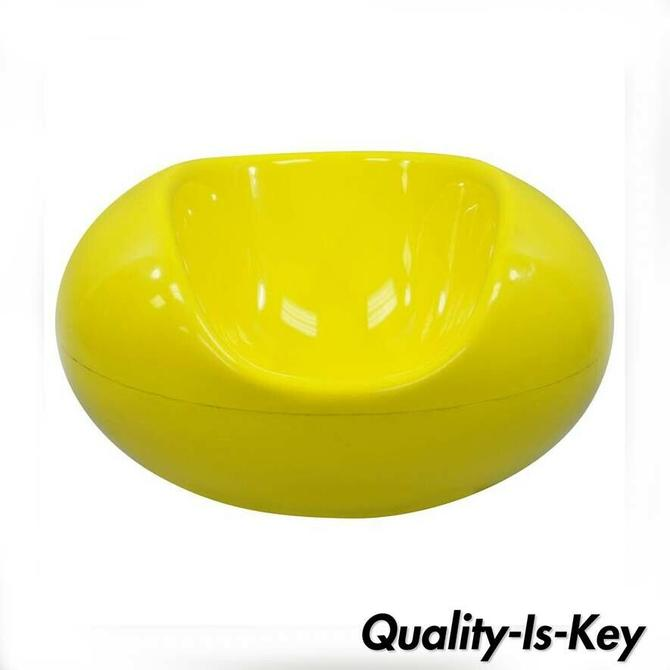 Eero Aarnio for Asko Yellow Fiberglass Pastille Pod Gyro Lounge Chair