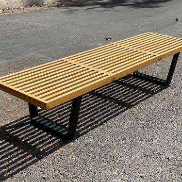George Nelson Style Coffee Table Bench 72 inches by HollywoodHillsModern