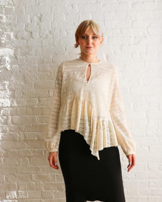 Rachel Comey Sullen Lace Blouse, Size 8