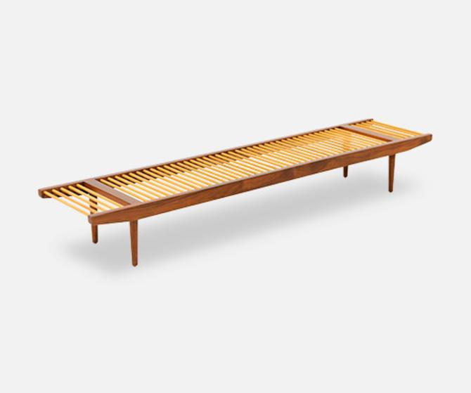 California Modern Large Dowel Bench by Milo Baughman for Glenn of California
