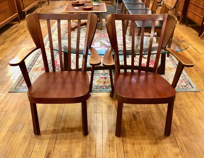 "Pair of Soren Hansen for Fritz Hansen ""Canada"" Chairs -1940's"