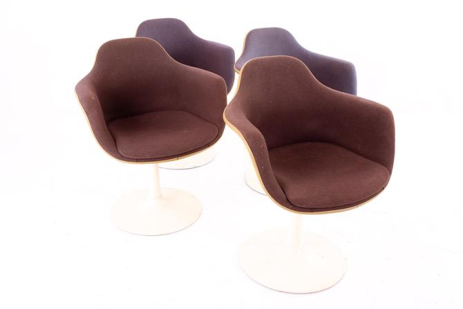 Eero Saarinen for Knoll Style Mid Century Tulip Dining Room Armchairs - Set of 4 by ModernHill