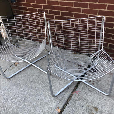 Jarpen Wire Lounge Chair by Niels Gammelgaard for Ikea Set of 2 by bcdrygoods