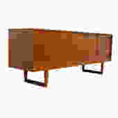Kurt Ostervig Deep Sideboard / Credenza with Sleigh Legs