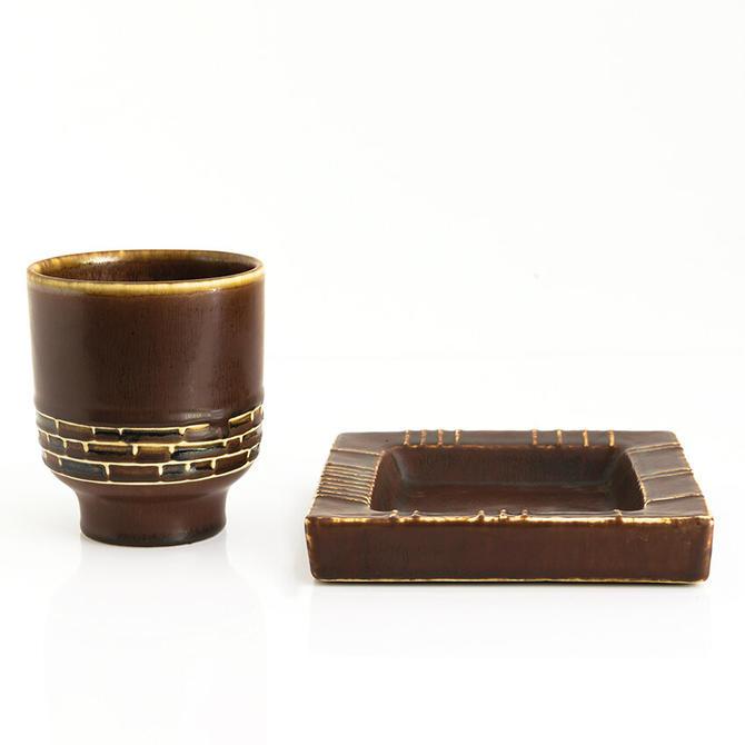 Carl-Harry Stalhane & Hertha Bengtsson vase and dish