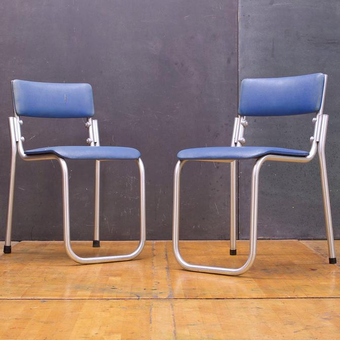 Duralium Stacking Chairs Mid Century Art Deco 1940s 1930s