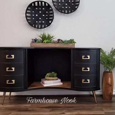 Portfolio Listing ** SOLD Mid Century Modern Dresser, Modern  Entry Table, Refinished Vintage Dresser, Mid Century Furniture by FarmhouseNook