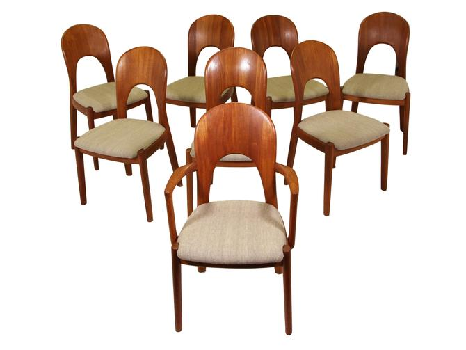 Rare Set of 8 Morten Dining Chairs by Koefoeds Hornslet by RetroPassion21