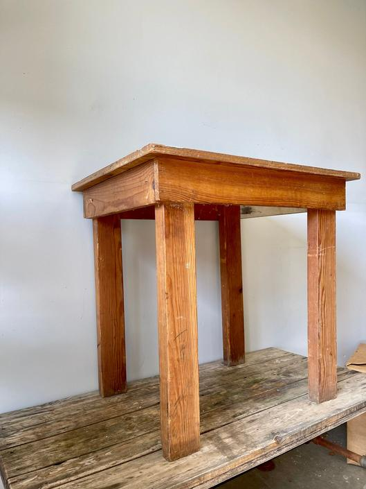 Vintage Small Wood Table   Rustic Side Table   Industrial Small Table   Nightstand   Printer Cart   Microwave Cart   Potting Bench Workbench by PiccadillyPrairie
