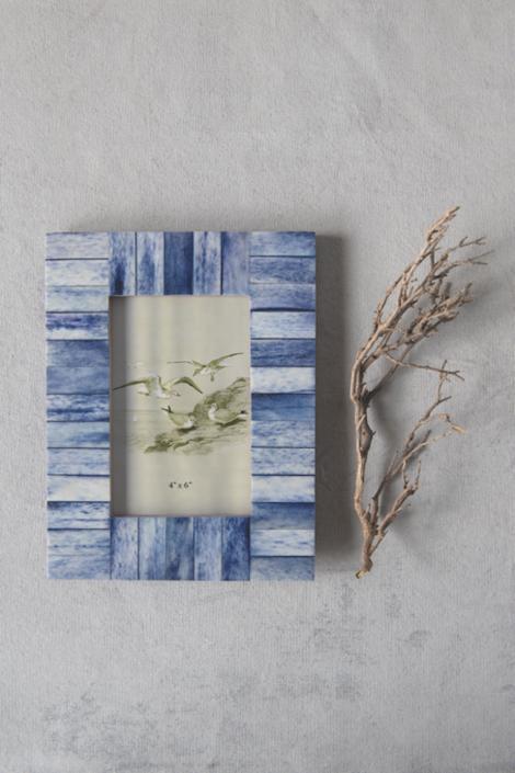 Indigo Wood & Bone Frame - FREE SHIPPING