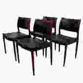 Set of 4 Danish Modern Rosewood Niels Moller #80 Dining Chairs