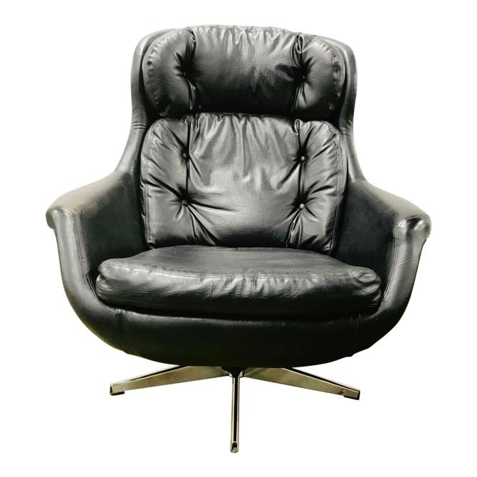 Mid Century Egg Chair and Ottoman Imperial