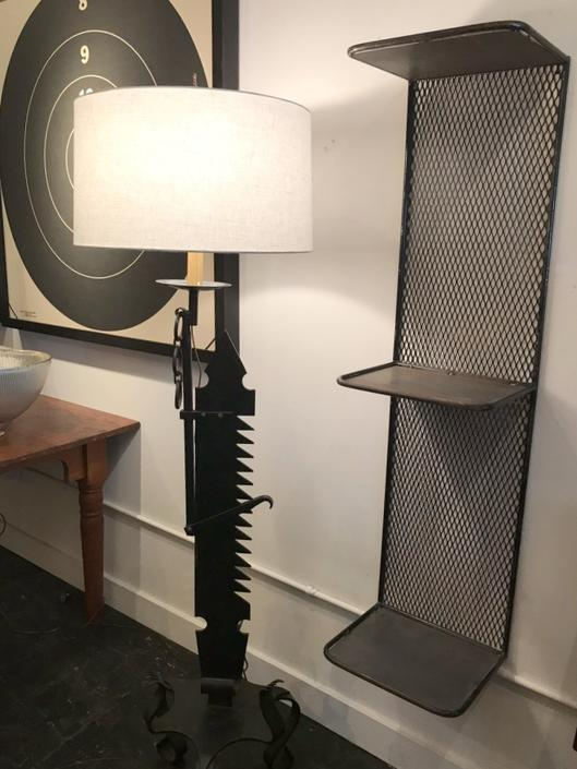 Black Forged Floor Lamp