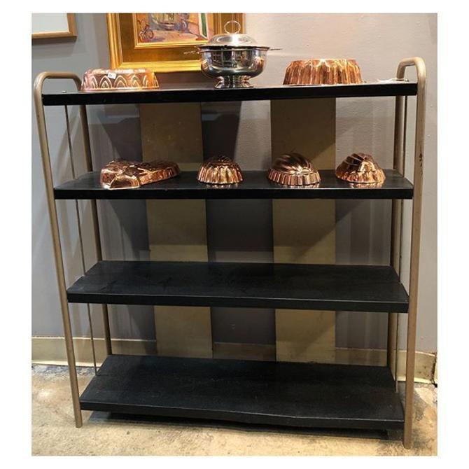 1950s metal shelf 36 W x 9.5 S x 38 H
