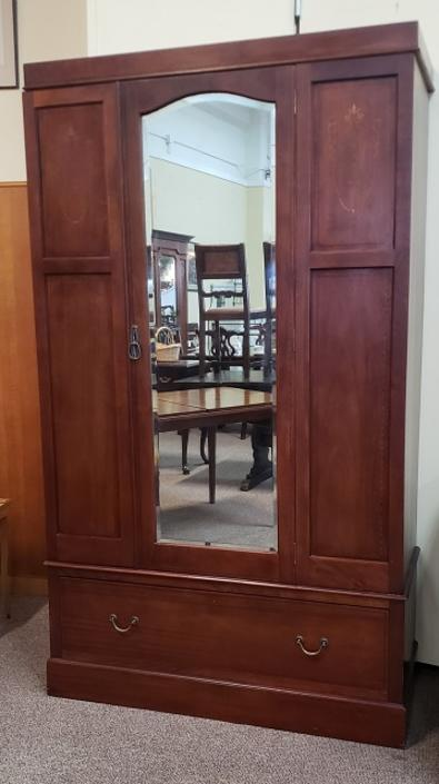 Item #AZ6 Antique Mahogany Armoire w/ Inlay c.1910