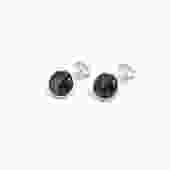 Men's Snowflake Obsidian Cuff Links