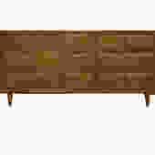 $554: 9 Drawer Mid Century Dresser