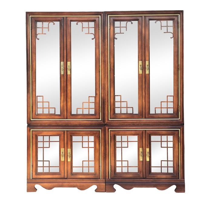 Asian Inspired Curio China Hutch Cabinet by 2ndStoryTradingCo