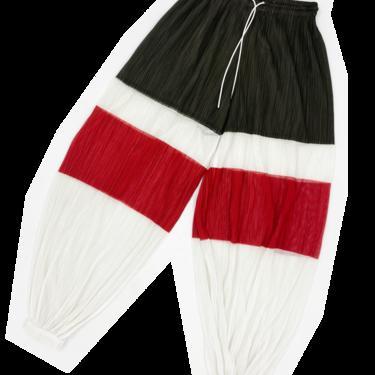 Pleats Please color block balloon pants