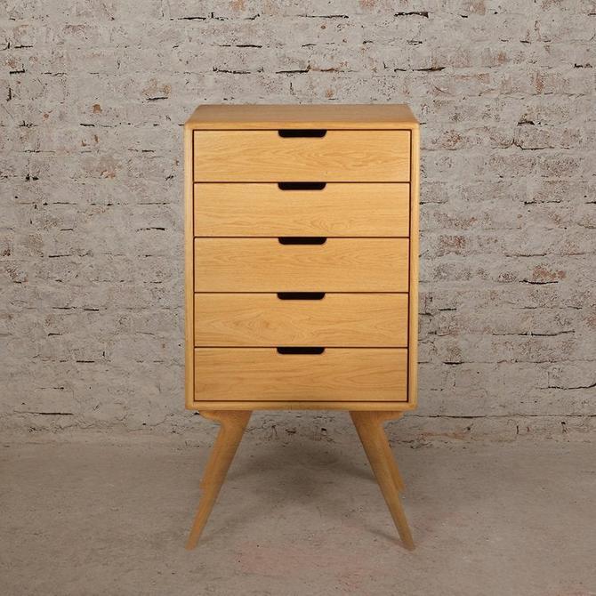 Tall Dresser, Scandinavian Design, Mid Century Modern Dresser, High Boy Dresser by MOKUArtisanFurniture