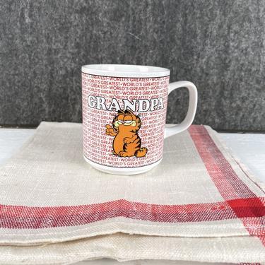 "Garfield ""World's Best Grandpa"" mug - Enesco  E-7416 - 1978 by NextStageVintage"