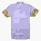 Striped S/S Shirt (Blue/Camo)