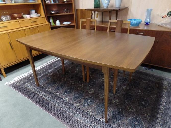 4986cbce28c6 Mid-Century Modern walnut boat shaped dining table for the Brasilia line by  Broyhill