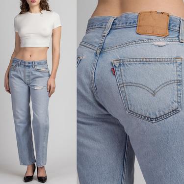 "Vintage Levi's 501 Jeans - 31"", Men's Small, Women's Medium | 80s 90s Unisex Denim Straight Leg High Waist Boyfriend Jeans by FlyingAppleVintage"