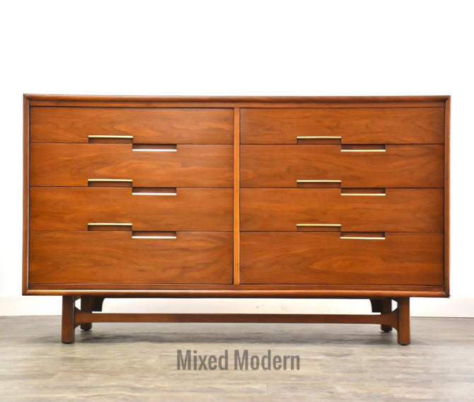 Walnut MCM Dresser by Calvalier by mixedmodern1
