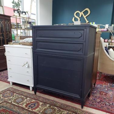 Tall vintage blue dresser by StylishPatina