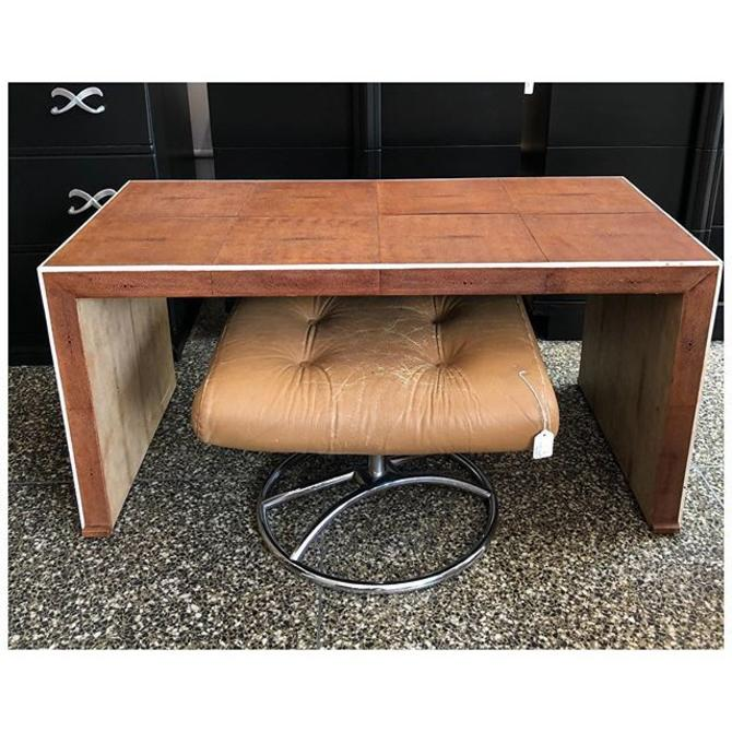 Parsons style Shagreen coffee table 42 L x 20 W x 20.5 H