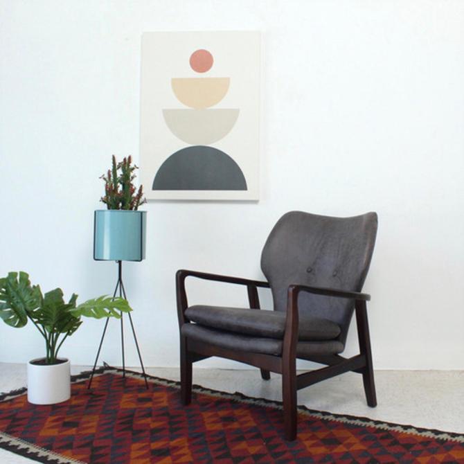 Grey Danish Style Armchair
