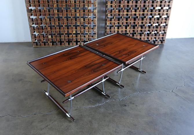 Jens Quistgaard Rare Pair of Rosewood Tables for Nissen Denmark, 1960