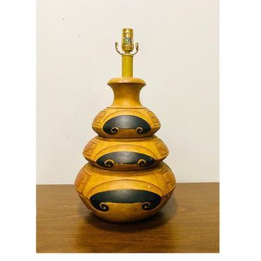 Vintage Southwestern Accent Lamp, Southwest Decor, Vintage 80s Large Table Lamp by VivaLaVintagedotTX