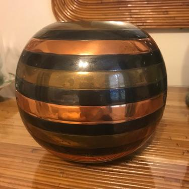 Pretty mid century brass vase by HolbrookBazaar