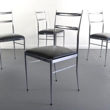 Set of 4 Italian Modern Dining Chairs in the Manner of Gio Ponti, Italy by ABTModern