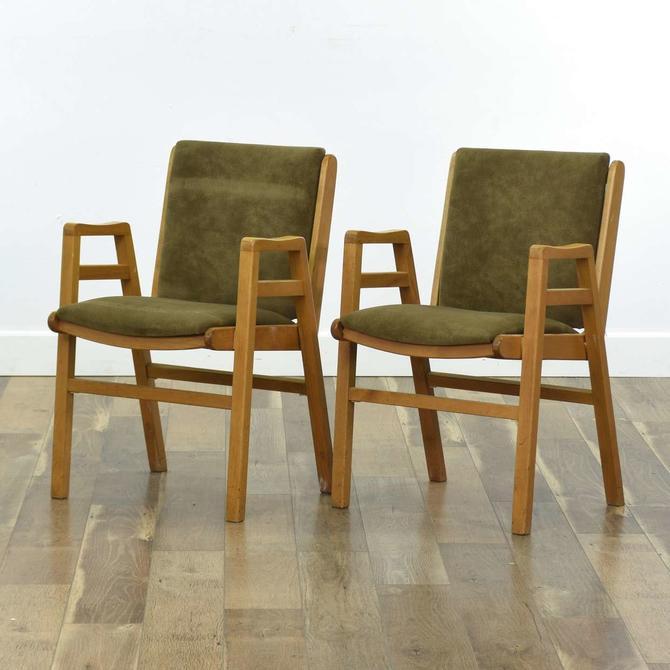 Pair Of Danish Modern Stacking Chairs