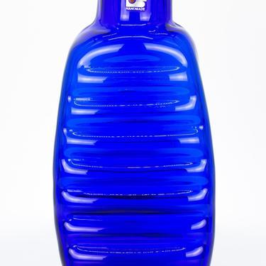Blenko Glass Company Mid Century Blue Glass Vase - mcm by ModernHill