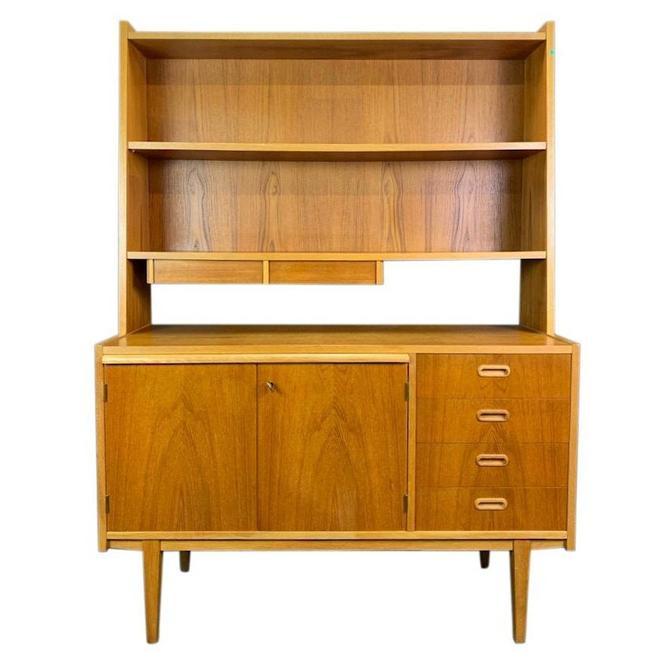 Vintage Scandinavian Mid Century Modern Teak Secretary Bookshelf by AymerickModern