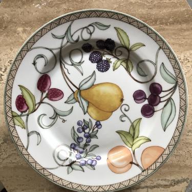 Dansk salad plates, Umbrian Fruits pattern set of 8. TL