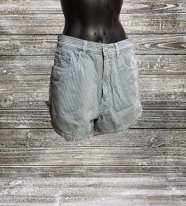 Vintage Jordache Shorts, Blue & White Seersucker Striped Shorts, Vintage 1980's Designer Shorts, Hipster Retro Clothes, Vintage Clothing by AGoGoVintage