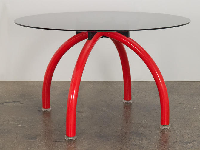 Ettore Sottsass Red Spyder Dining Table by openairmodern