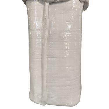 Italian Modern Large Hand Thrown Ceramic White Paper Bag Vase 1970s