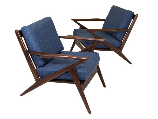 Pair of Mid-Century Style Z Chairs (Possibly Joy Bird) On Hold for Staging by RetroPassion21