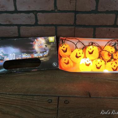 Vintage String of Plastic Pumpkin Lights by RedsRustyRelics
