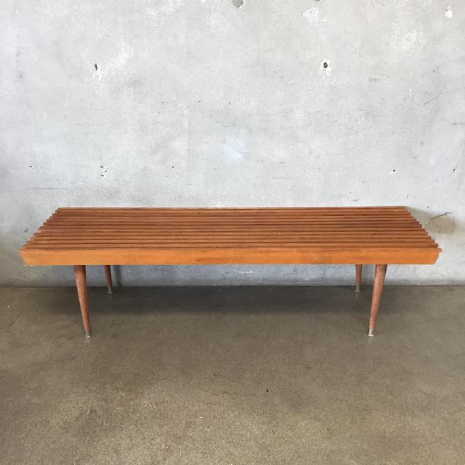 1960's Slat Bench