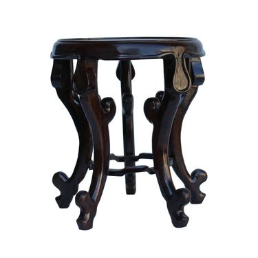 """Chinese Brown Wood Round Tall Table Top Stand Display Easel 5.75"""" cs5320AE by GoldenLotusAntiques"""