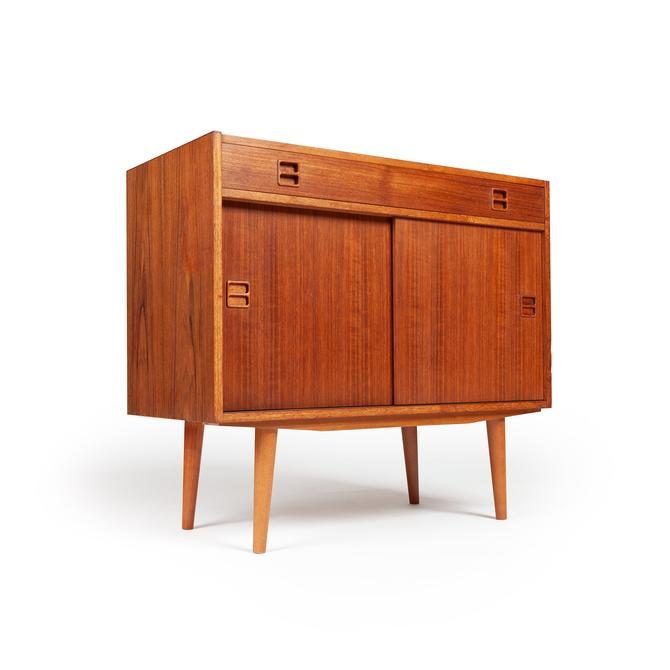 new product 8bf7f e3775 Small Danish Modern Midcentury Teak Credenza / Media Cabinet by  MidCenturyModernLAB